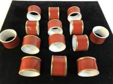 Set 14 Vintage Porcelain Napkin Rings