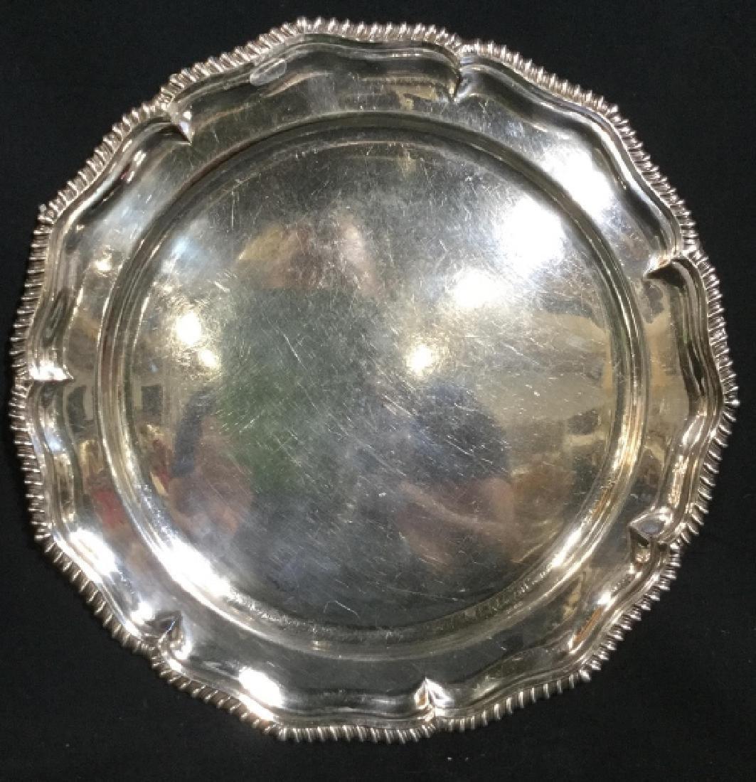 SHEFFIELD England Silver Toned Serving Platter