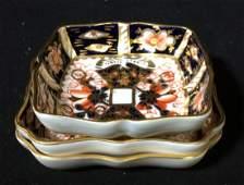Lot 3 Royal Crown Derby Porcelain Trinket Dishes