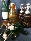 Vintage Wine, Beer & Milk Bottle Collection 6 pcs