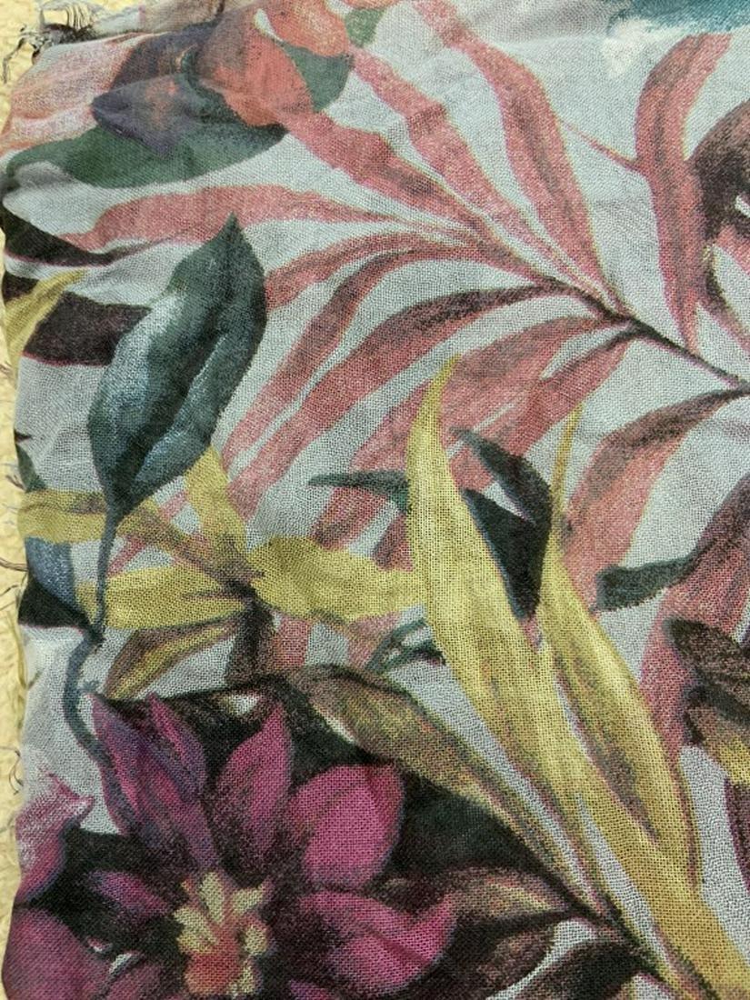09b26891cb3 Floral Print Fabric Scarf Shawl, Italy
