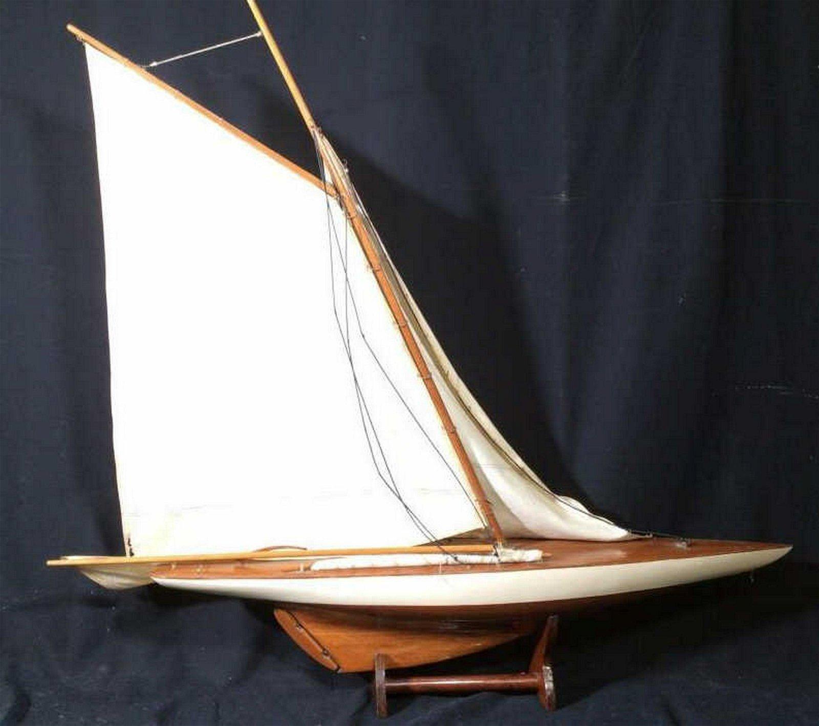 Large Scale Sleek Sailing Vessel Model Ship model, sail