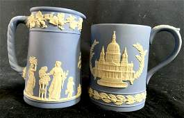 Pair Wedgwood Porcelain Mugs England