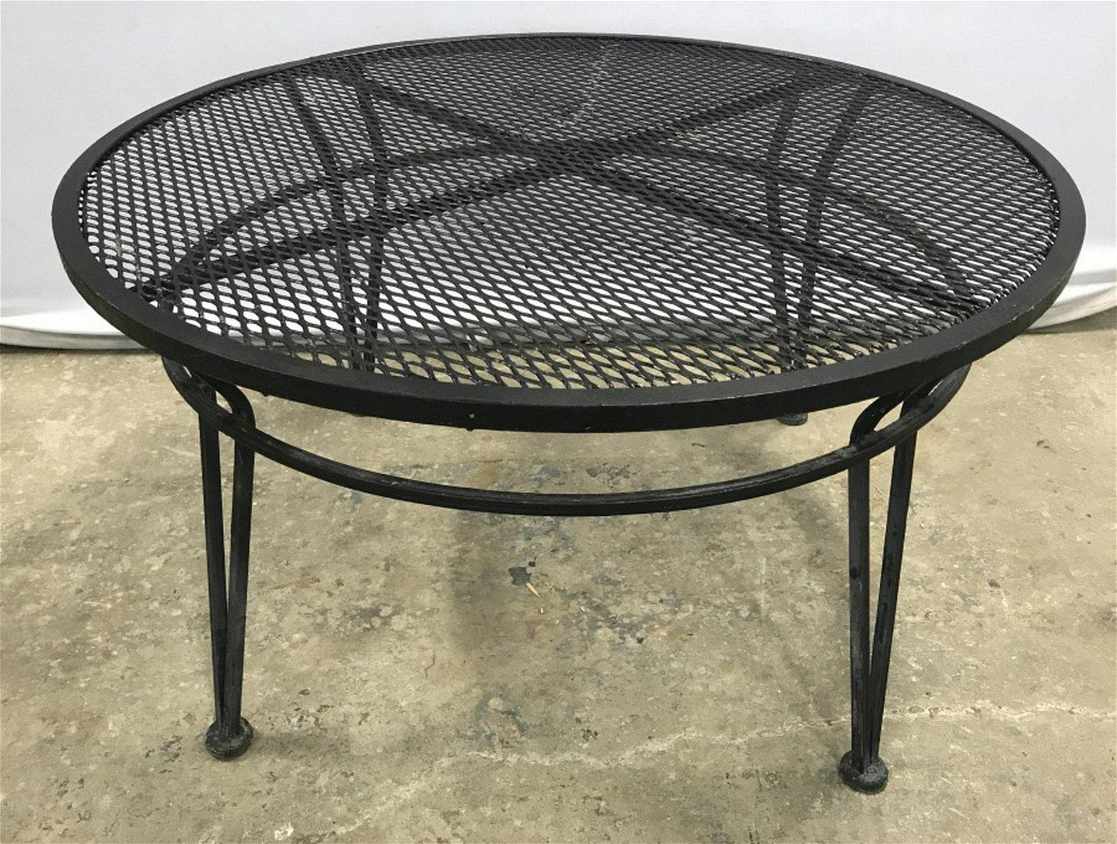 Russel Woodard Style Mesh Metal Patio Coffee Table