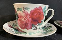 Porcelain Tableware Cups Saucers Plates Oversized cups