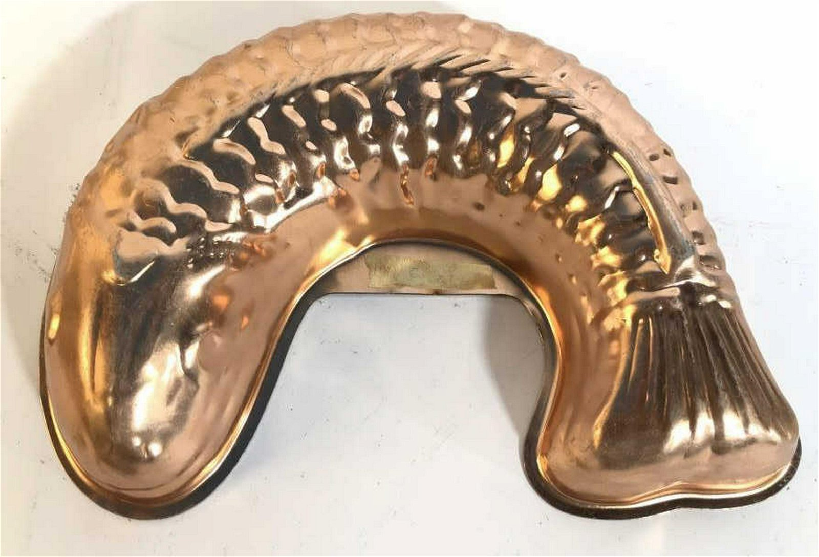 Vintage Copper Fish Mold Form Cooking or baking mold