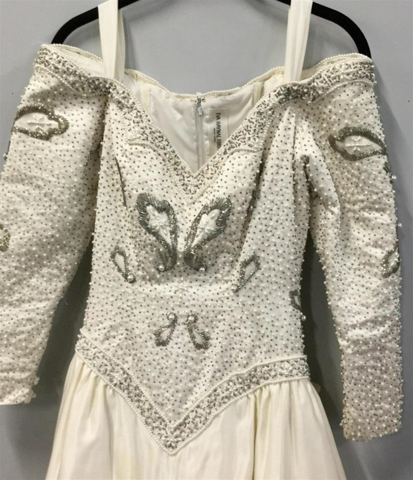 Cream Beaded EVA HAYNAL FORSYTH Wedding Dress