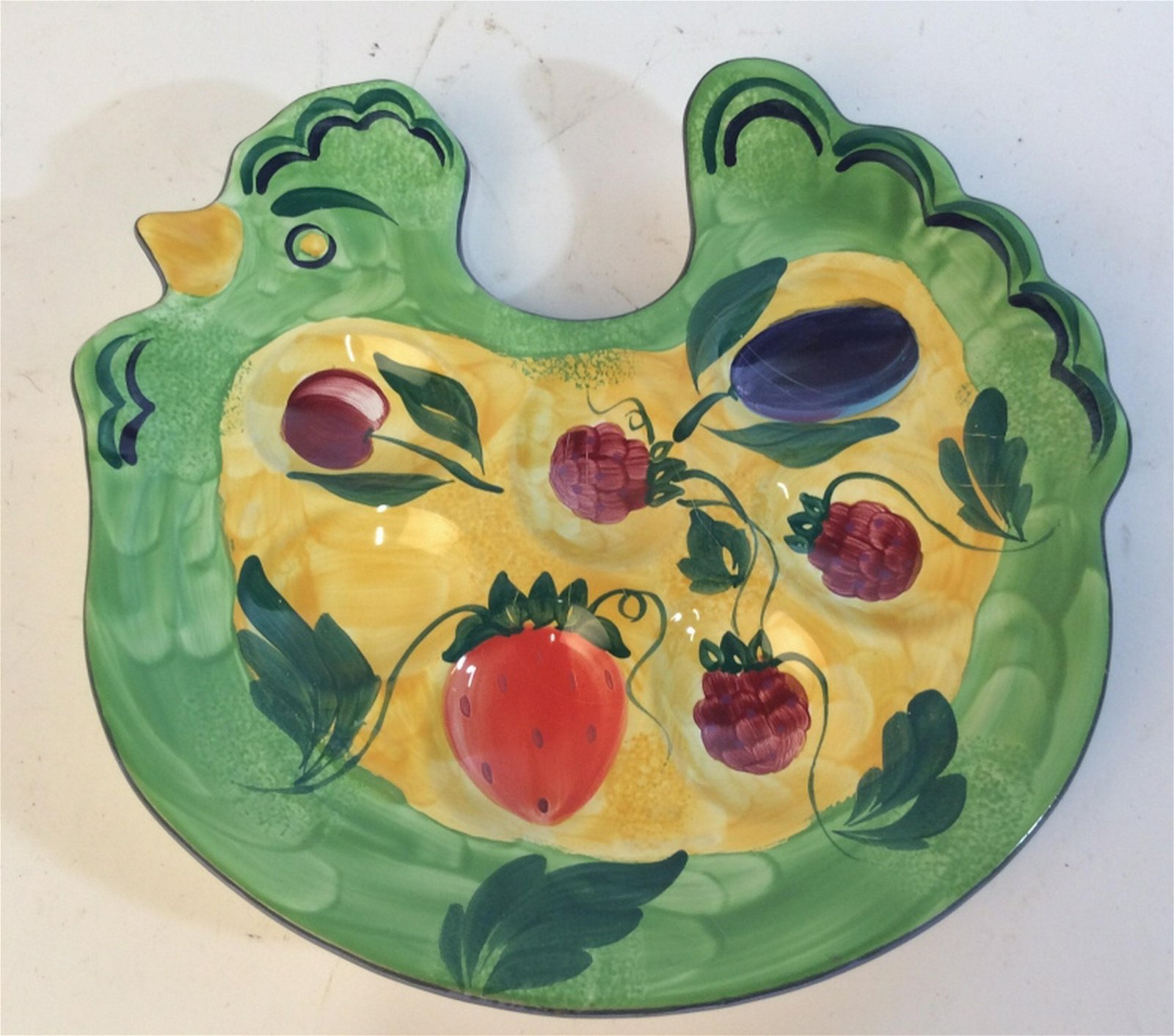 Vintage hand painted Hungarian Serving tray Vintage