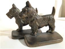 Pair Scottish Terrier Bookends