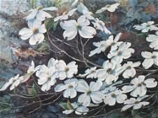 Pair Jim GRAY Floral Art Prints Framed