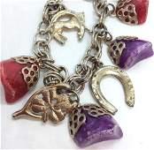 Mixed Media Equine Inspired Charm Bracelet