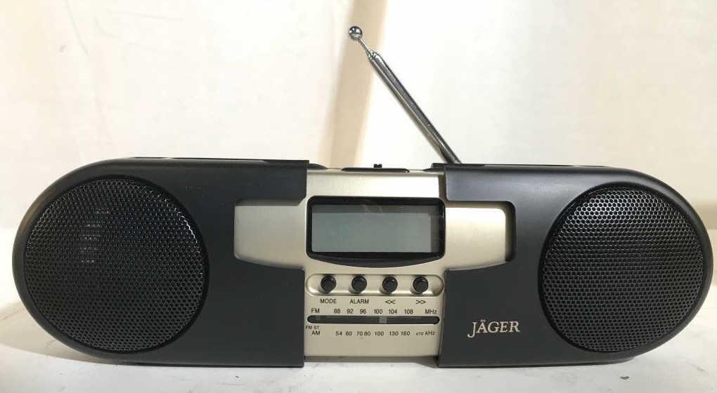 JAGER Travel Alarm Clock Radio W Original Box