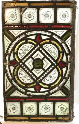 Lot 2 Vintage Stained Glass Religious Panels
