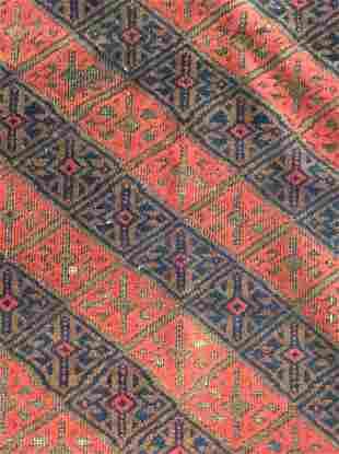 Handmade Afghan Geometrically Detailed Wool Rug