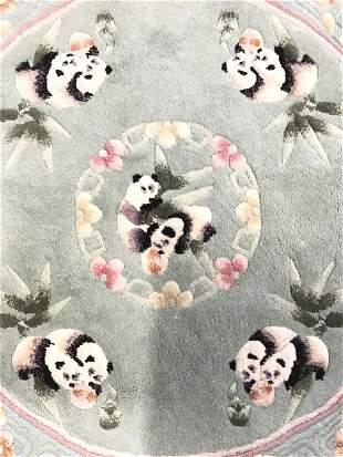 WOVEN LEGENDS Chinese Art Deco Circular Rug