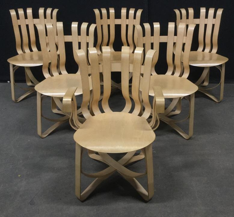 Set 6 Knoll FRANK GEHRY Hat Trick Chairs