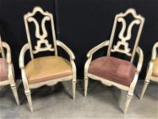 Set 4 Vintage Italian Carved Wooden Arm Chairs