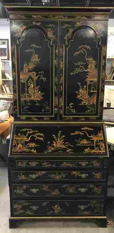 18th Century English Chinoiserie Secretary Desk