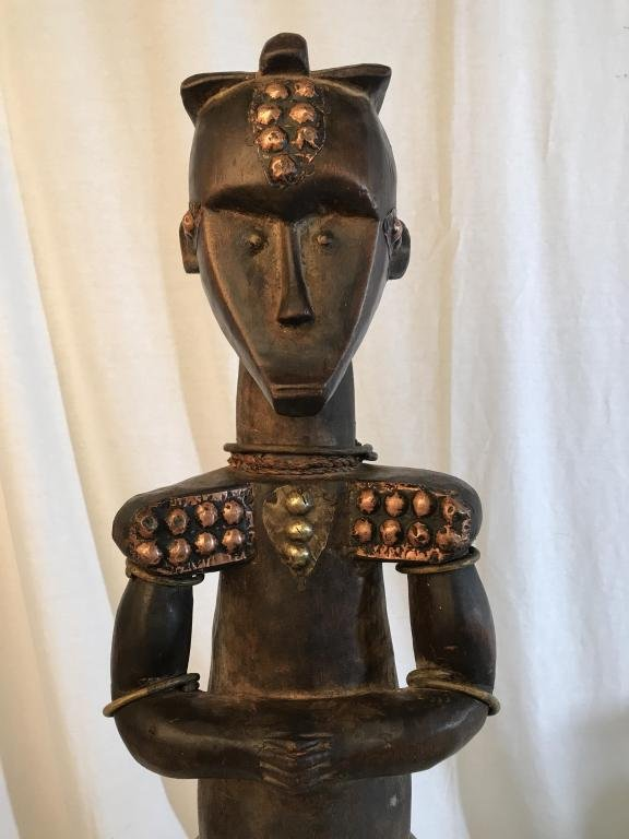 African Art Fang Tribe Wood Reliquary Statue