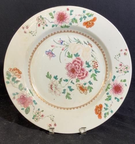 Vintage Painted Chinoiserie Porcelain Platter