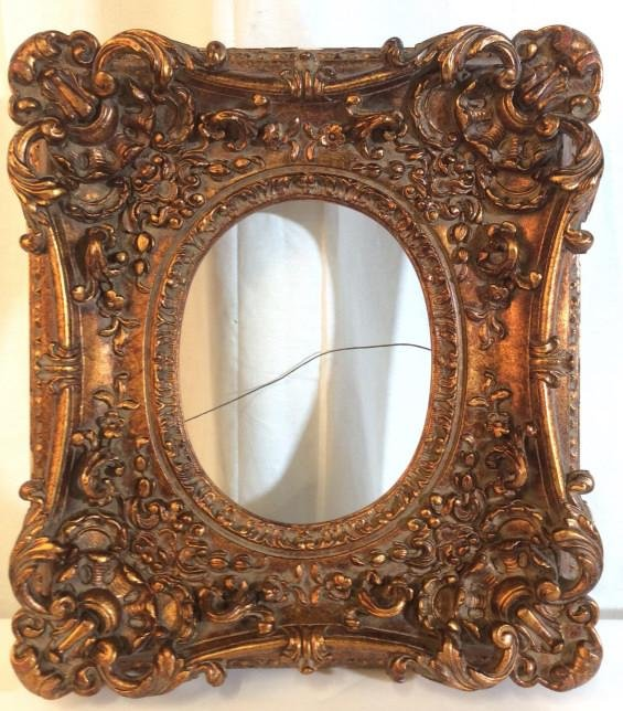 Gold Toned Ornately Carved Picture Frame
