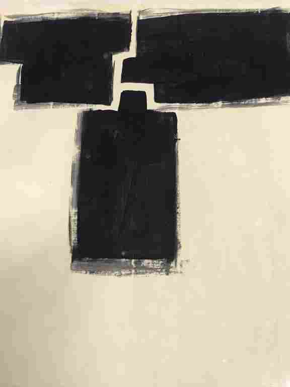 Signed Eduardo CHILLIDA Abstract Ink On Paper