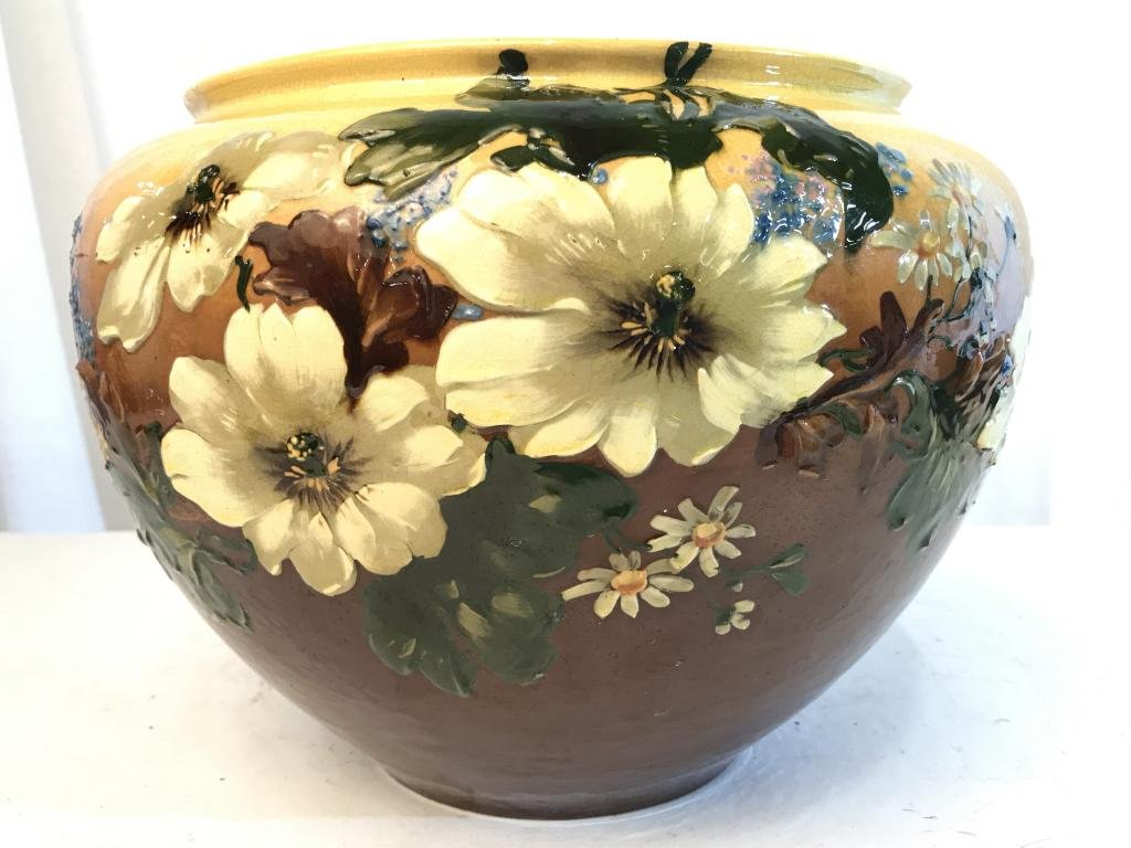 19th Century LEEDS English Art Pottery Planter