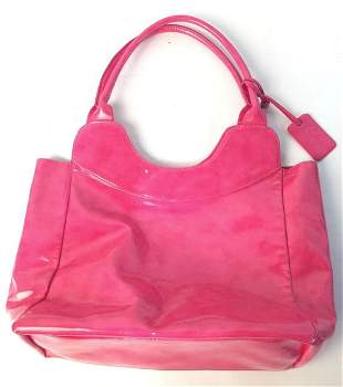 Neiman Marcus Bright pink Carry all purse