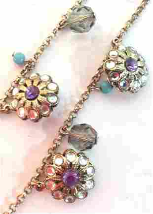 Floral chain necklace