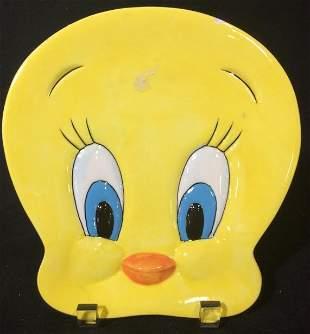 Vintage Tweety Bird Face Plate, Wall Hanging