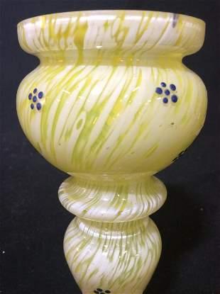 Yellow Art Glass Vase