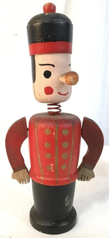 Vintage Hand Painted Wooden Coin bank