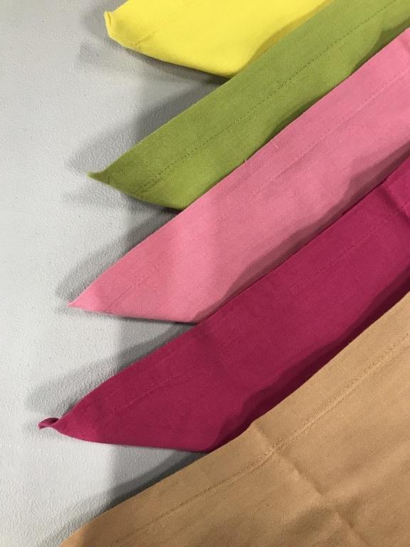 Assortment Colorful Vintage Cotton Table Napkins