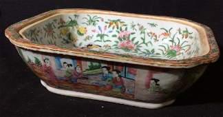 Vintage Asian Ceramic Rectangular Planter