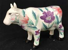 Novelty Cow Ceramic Figural Coin Bank