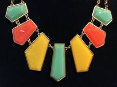 Vibrant Faceted Bead Bib Necklace