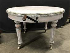 Vintage Painted French Country Style Table w crank