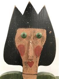 Vintage Folk Art Life Sized Hand Crafted Whirligig
