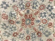 Antique Floral Hand-Stitched Quilt, Framed