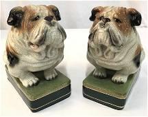 Pair Japanese Takahashi Bulldog Bookends