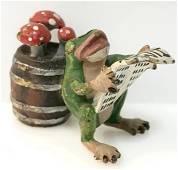 Lot 3 Antique Vienna Bronze Miniature Frogs