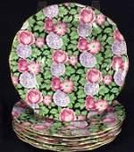 Set 6 porcelain plates, Royal Standard