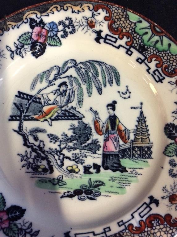 Pair 19th Century French TIMOR LUNEVILLE China