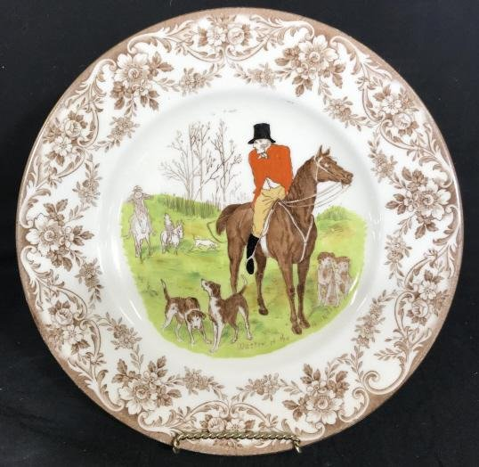 Wedgwood Master Of The Hounds Fox Hunt Plate