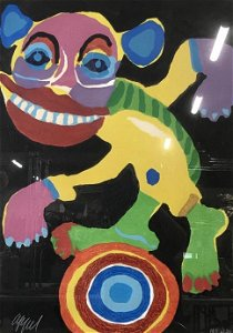 Signed Karel Appel Limited Edition Woodcut