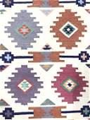 Handmade Tribal Style Flat Weave Wool Rug