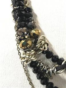 Multi Texture Graduated Strand Length Necklace