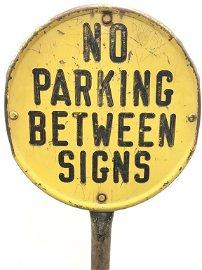 Antique LYLE SIGNS Metal No Parking Sign