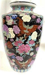 Signed Painted Glazed Asian Ceramic Vessel