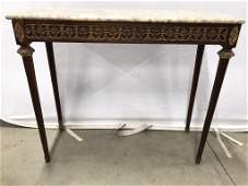 Antique Louis XVI Style Marble Top Console Table